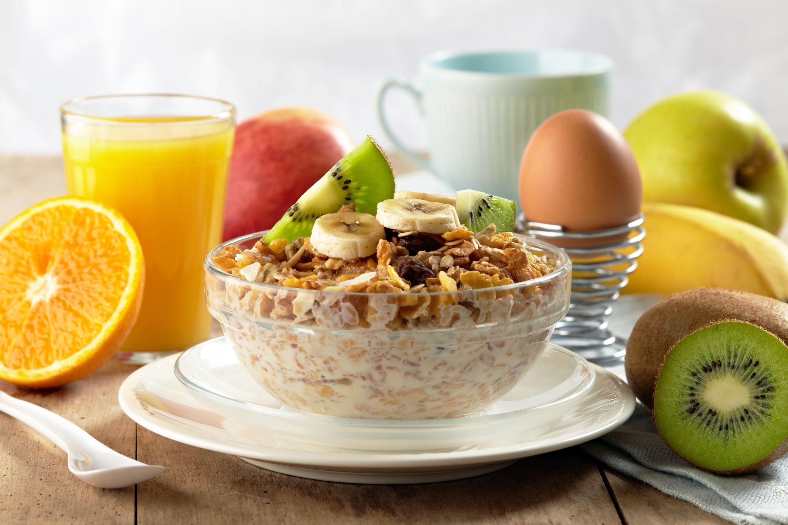 Opciones de desayunos saludables.