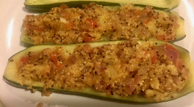 Receta de calabacines rellenos de quinoa