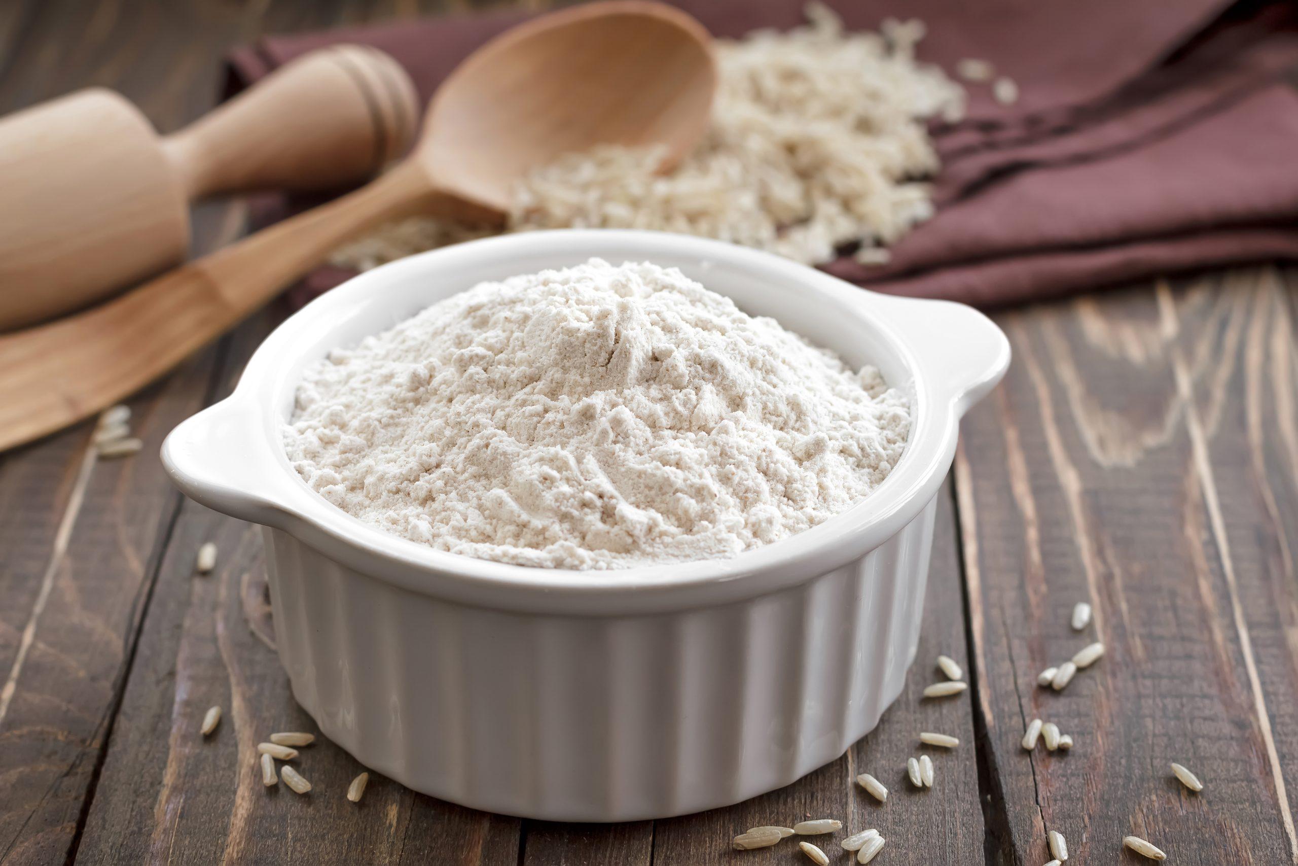 Harina de arroz integral casera